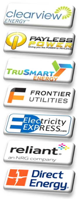 Electricity Express is now offering services with these trusted Retail Energy Providers in all Texas, ClearView Energy, Payless Power, TruSmart, Frontier Utilities, EPIQ, and coming soon, Direct Energy and Reliant.