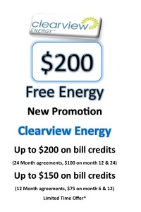 $200 Free Energy with Clearview Energy