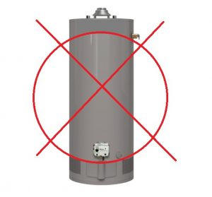 Image of a traditional water heater
