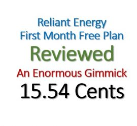 Review Reliant Energy First Month Free Plan