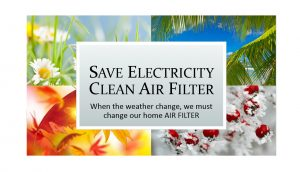 Save Electricity Clean Air Filter