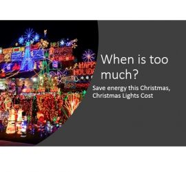 Save energy this Christmas, Christmas Lights Cost 2