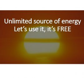 The sun is an unlimited source of energy