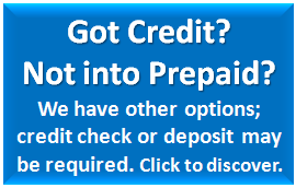 Got Credit? Not into Prepaid? We can help, we cater other electricity providers. Check their rates and terms.