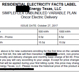 EFL - About Residencial Electricity Rates
