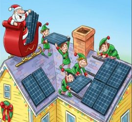Solar panels for Christmas