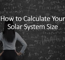 How to calculate your solar system size