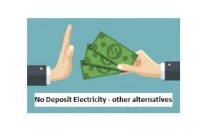 Power for your home without a deposit