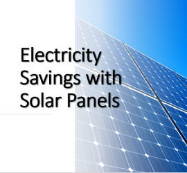 Electricity Savings with solar panels