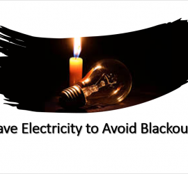 Save Electricity to Avoid Blackouts