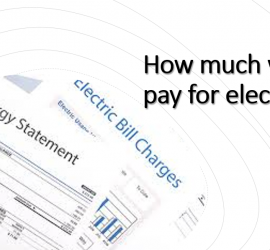 How much will I pay for electricity